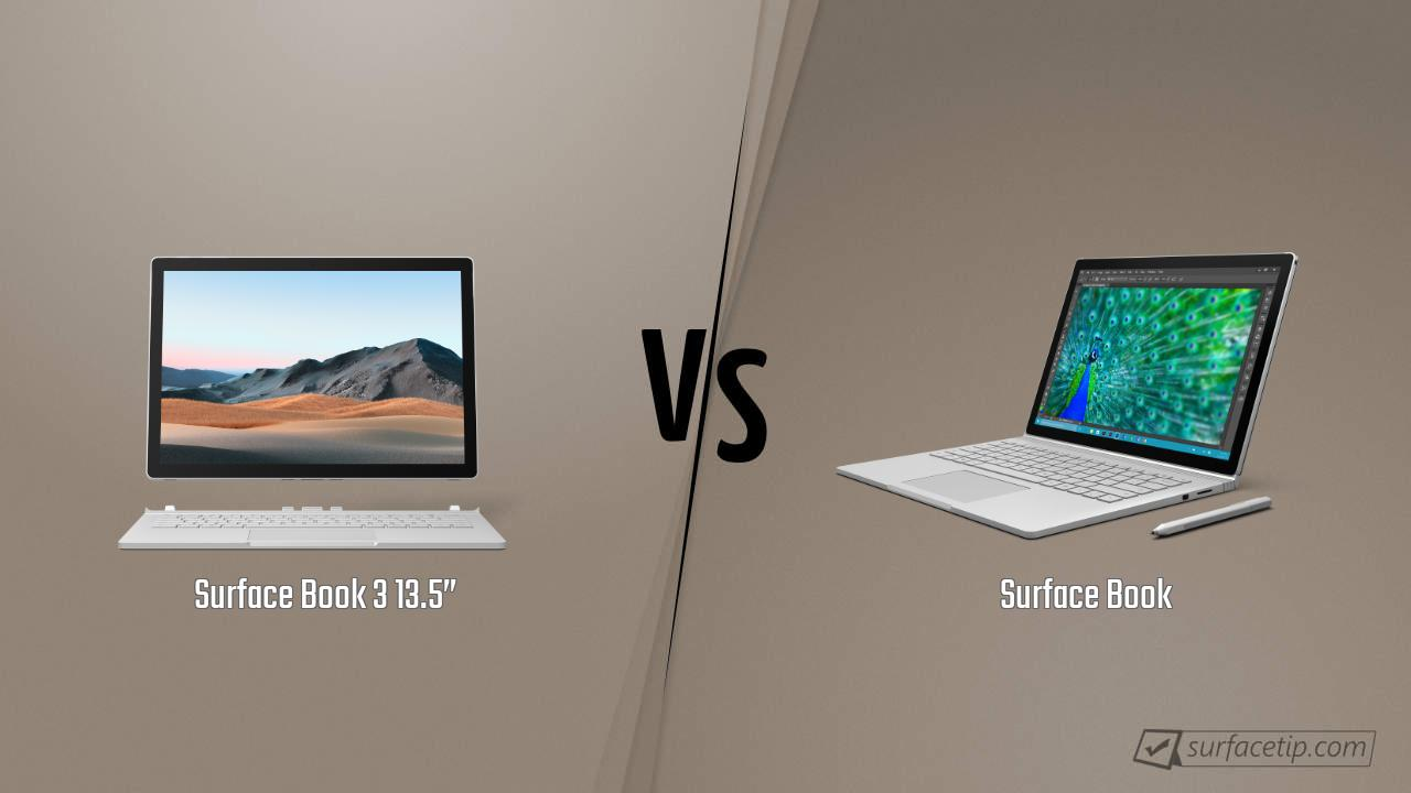 "Surface Book 3 13.5"" vs. Surface Book"