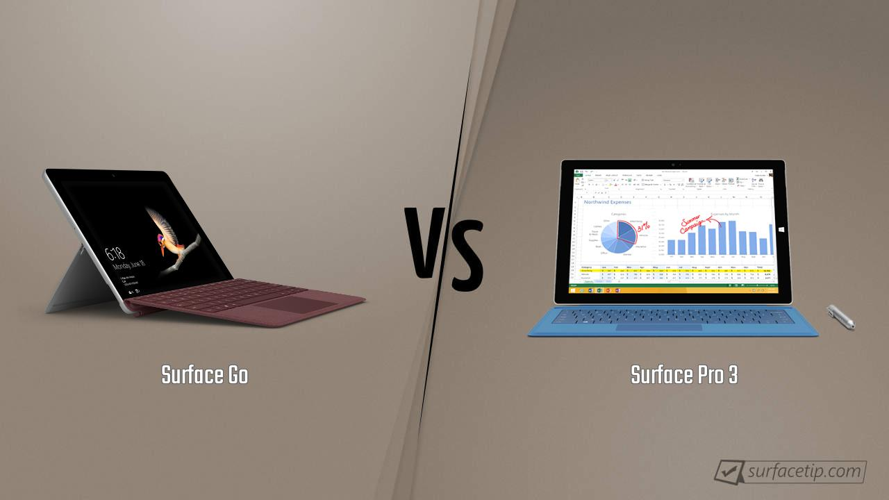 Surface Go vs. Surface Pro 3