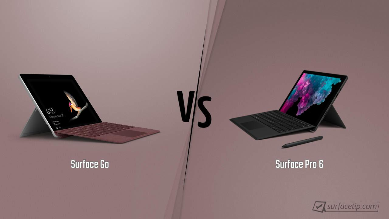 Surface Go vs. Surface Pro 6