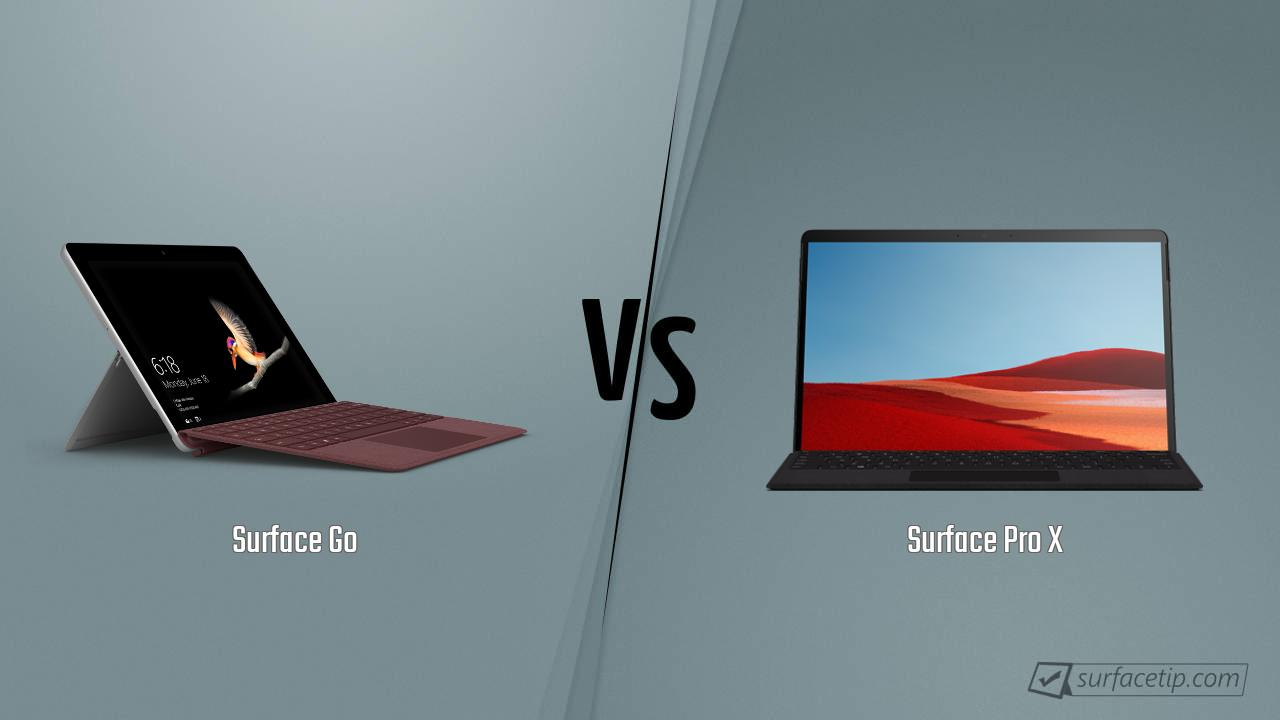 Surface Go vs. Surface Pro X