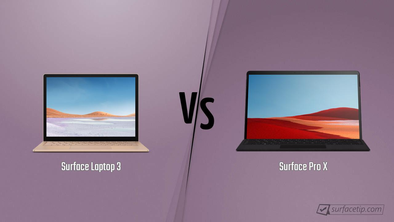 Surface Laptop 3 vs. Surface Pro X