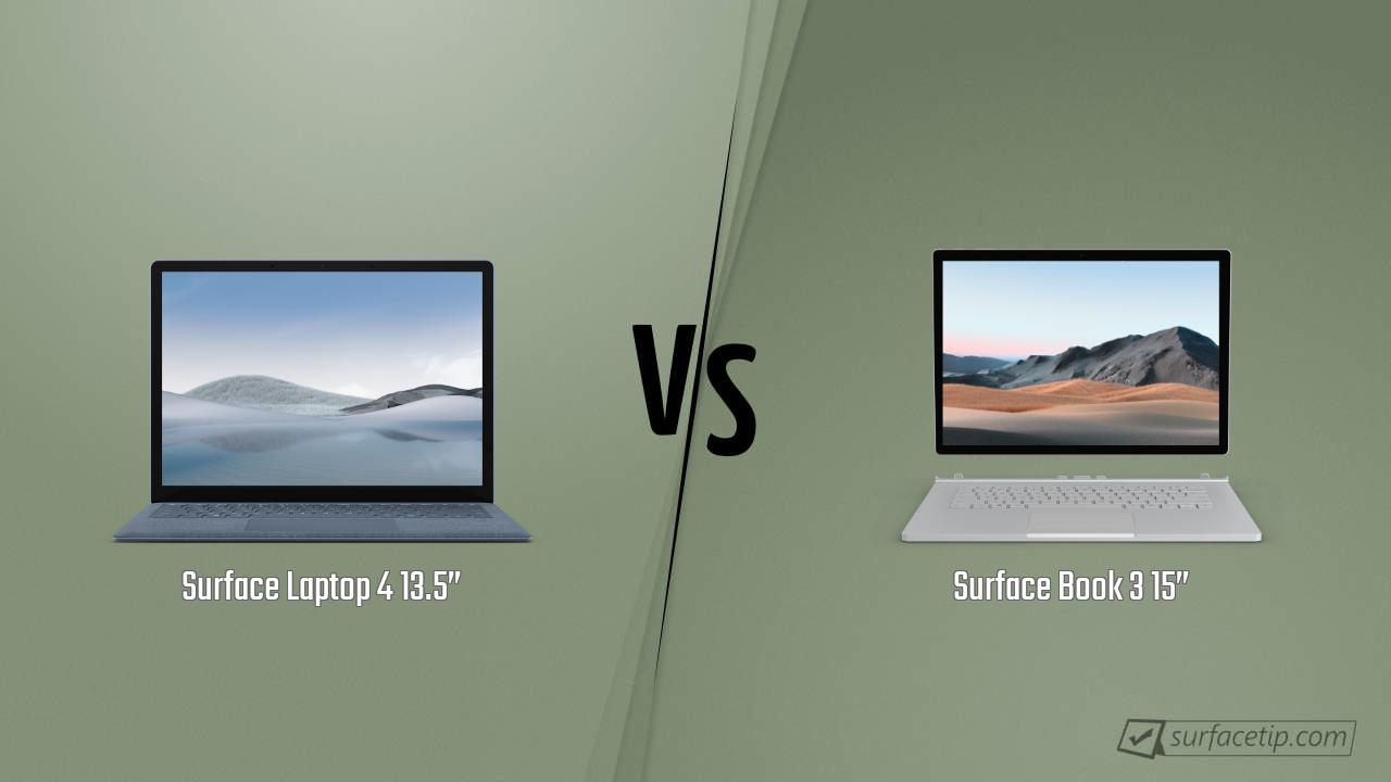 "Surface Laptop 4 13.5"" vs. Surface Book 3 15"""