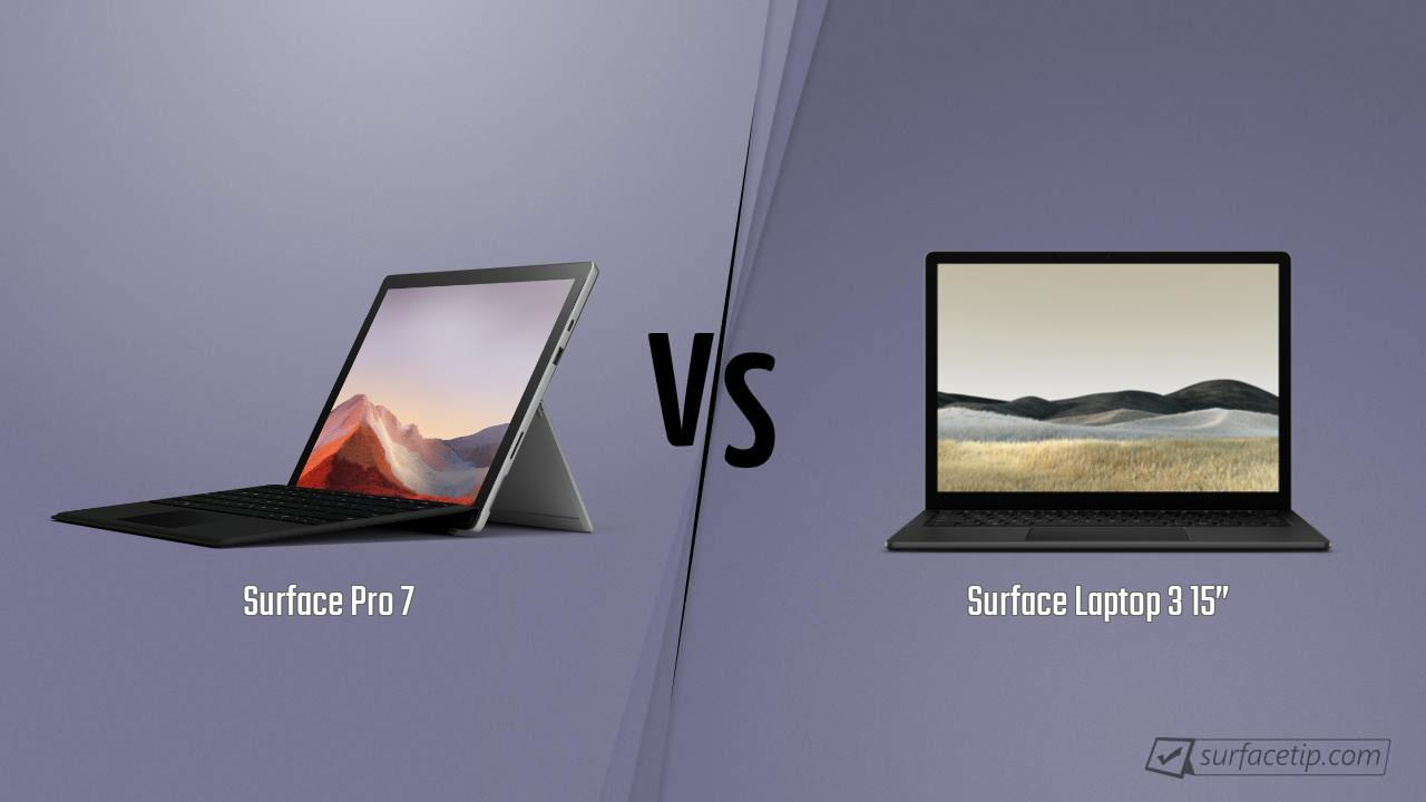 Surface Pro 7 vs. Surface Laptop 3 15""