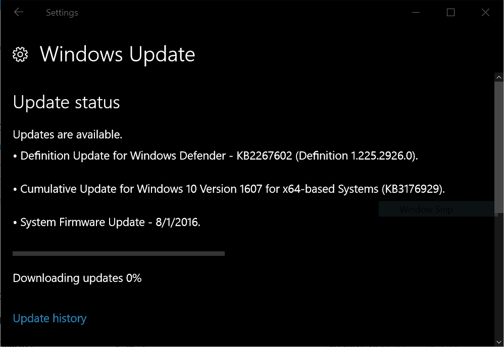 Surface Pro 3 Firmware Update 8/1/2016