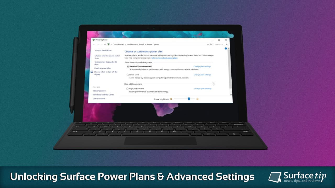 How To Unlock Power Plans On Surface Devices