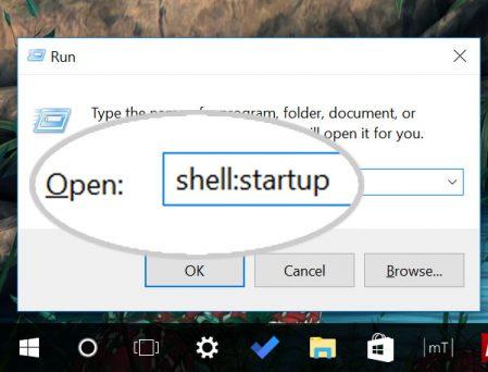Open Start Up Folder