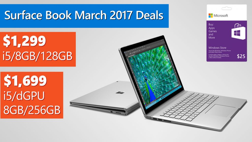 Microsoft Surface Book Deals for March 2017