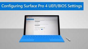 How to Configure Surface Pro 4 UEFI/BIOS Settings