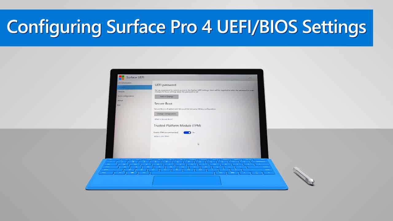reset surface 3 uefi password