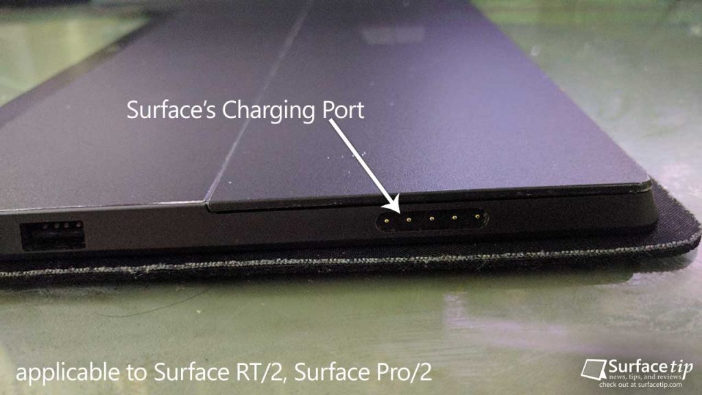Surface RT/2, Surface Pro/2 Charging Port