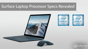 Surface Laptop Processor Specifications Revealed