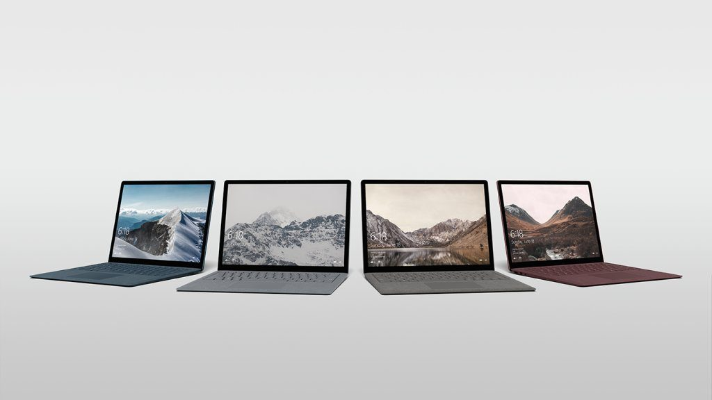 Surface Laptop available in 4 colors