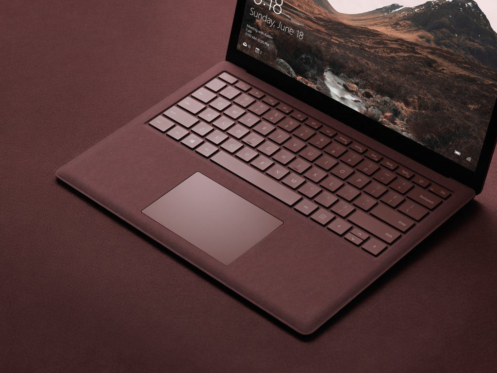 Surface Laptop in Burgundy color