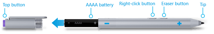 Surface Pro 3 Pen AAAA battery