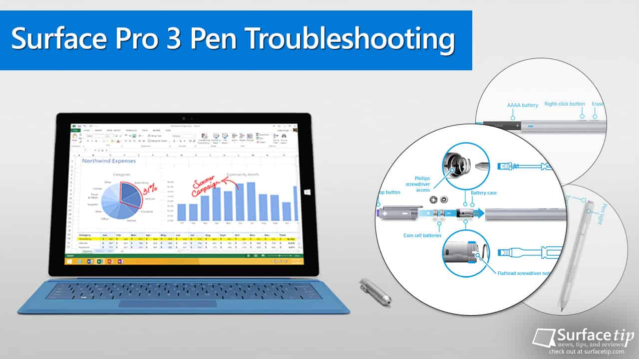 Surface Pro 3 Pen troubleshooting tips