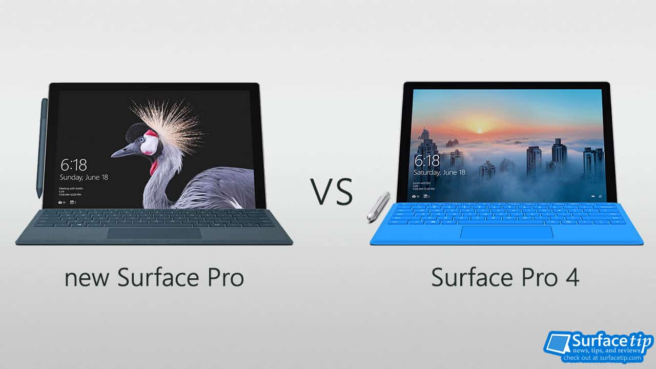 The new Surface Pro 2017 vs Surface Pro 4