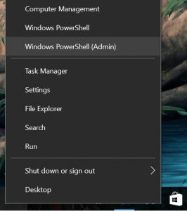 How to go to Windows PowerShell (Admin)