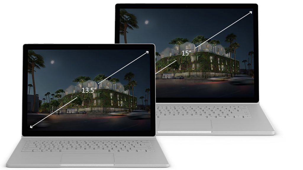Surface Book 2 with 2 sizes