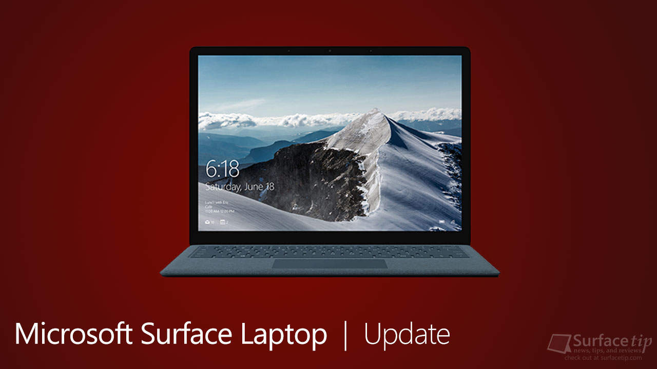 Microsoft Surface Laptop Update