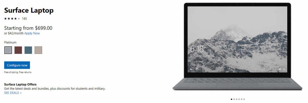 Surface Laptop Deal Down to $699