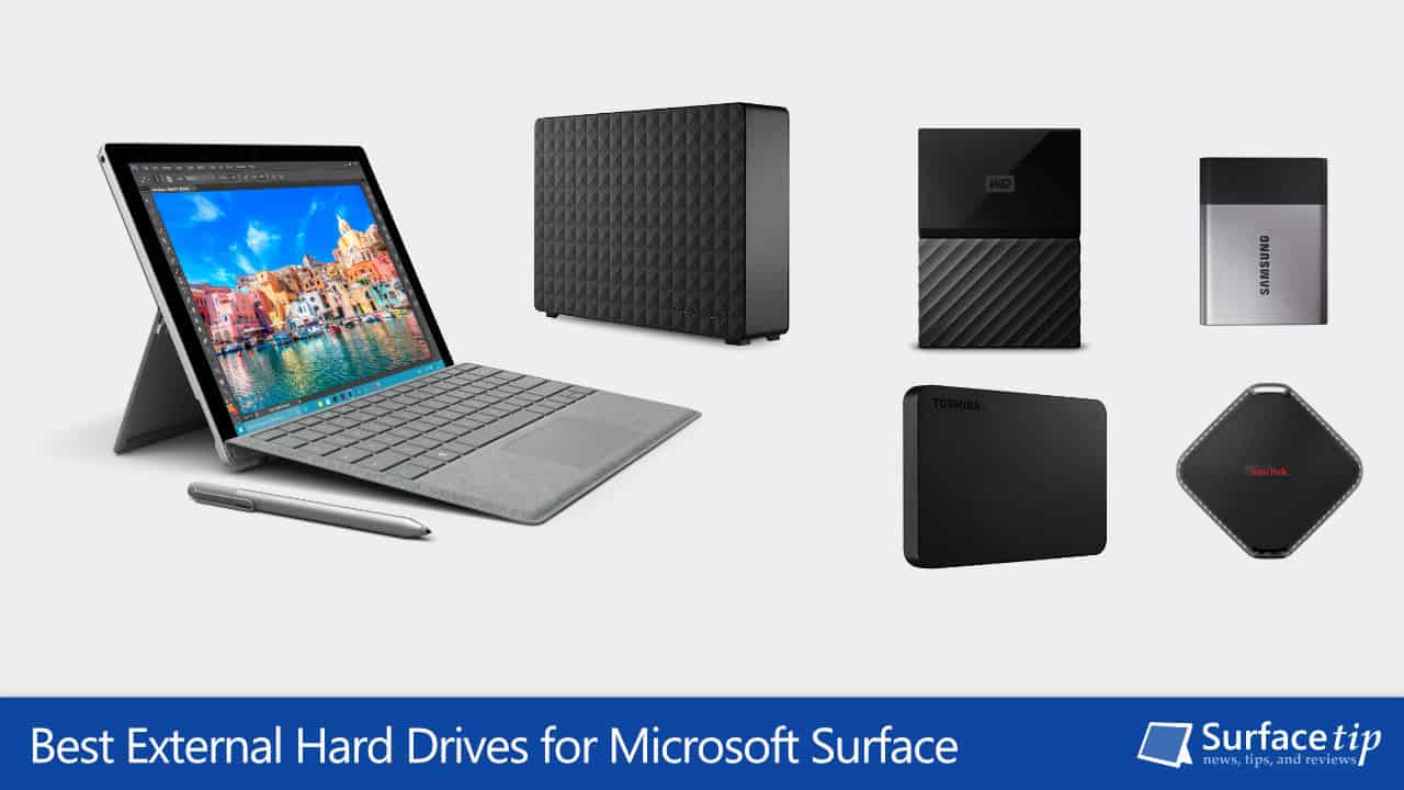 Best External Hard Drives for Microsoft Surface