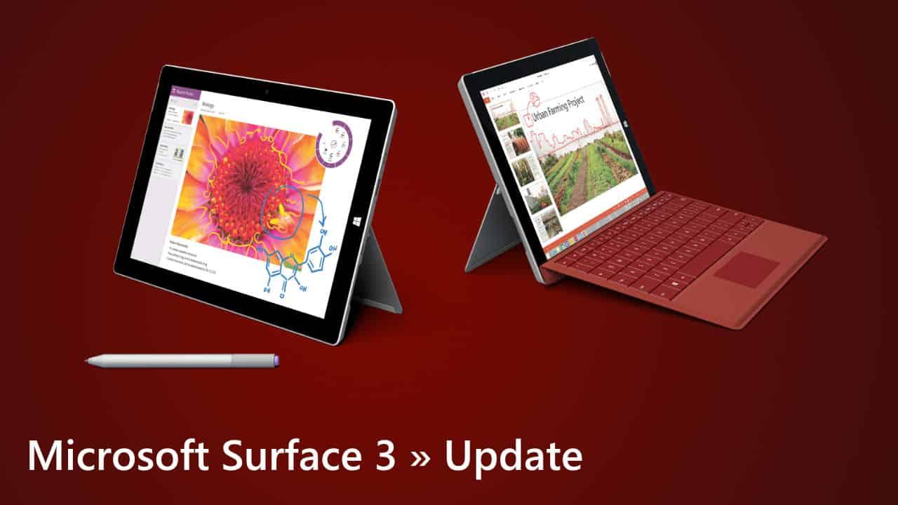 Microsoft Surface 3 Update