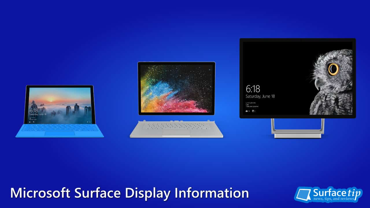 Microsoft Surface screen size and resolution – a complete list