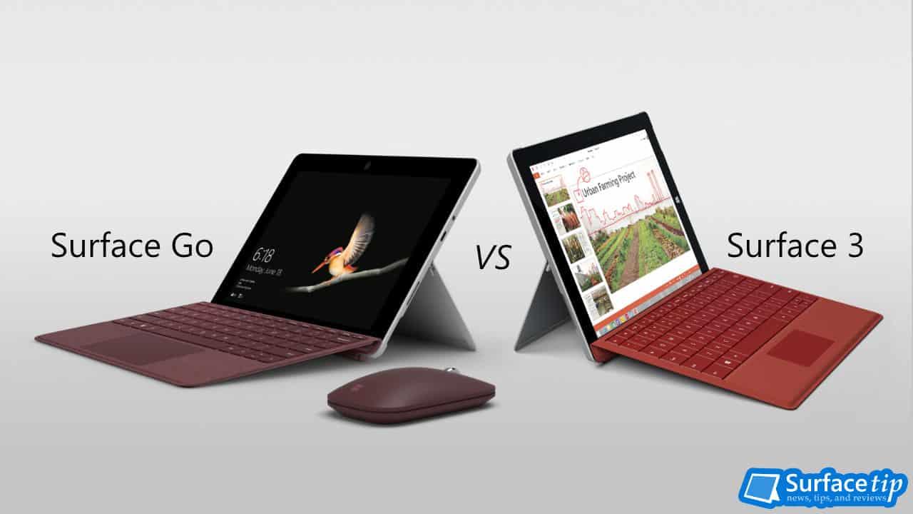 Surface Go vs Surface 3