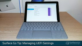 How to configure Surface Go UEFI/BIOS settings