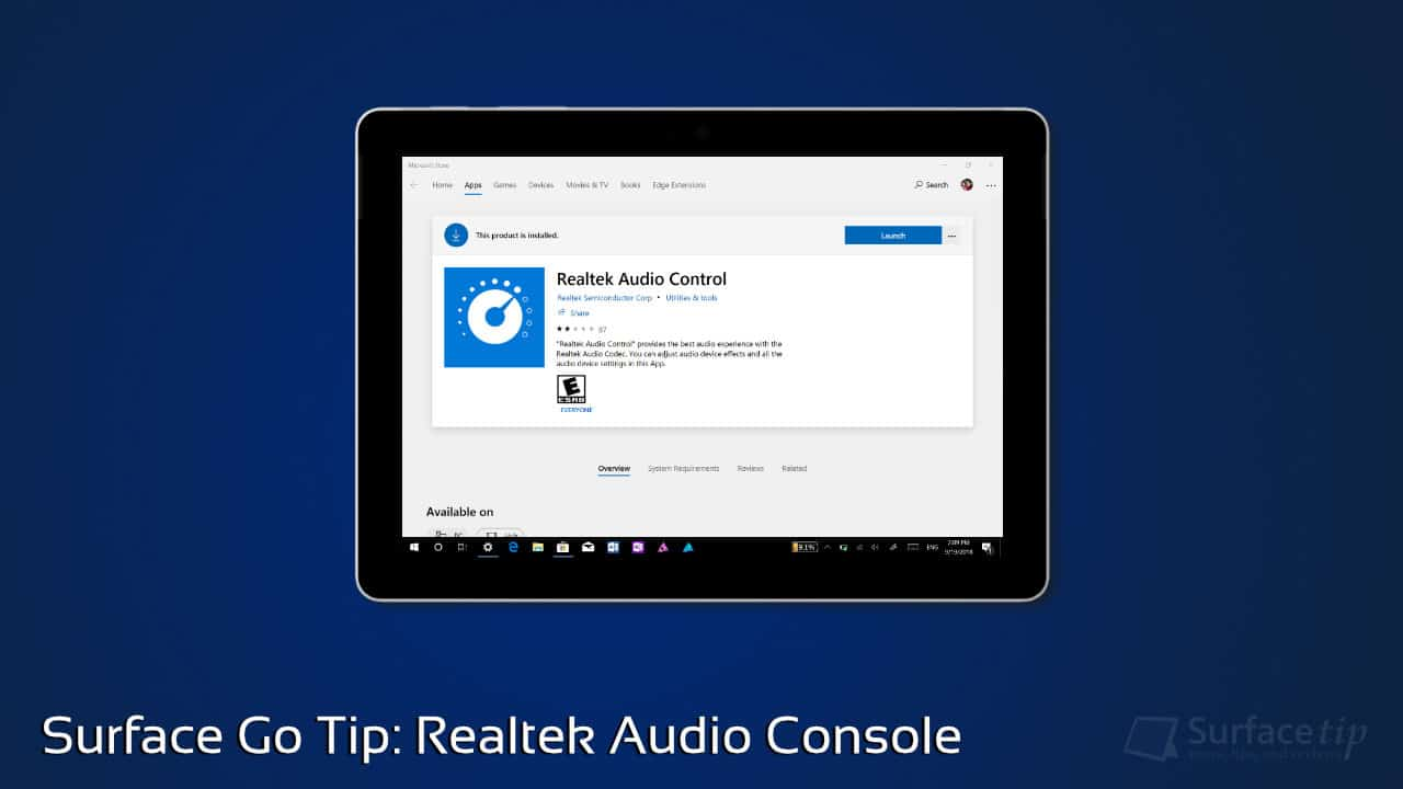 Surface Go Tip: Managing Sound Settings with Realtek Audio