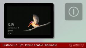 Enable Surface Go Hibernation