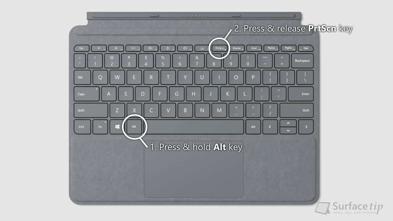 Surface Go Type Cover - Alt + PrtScn