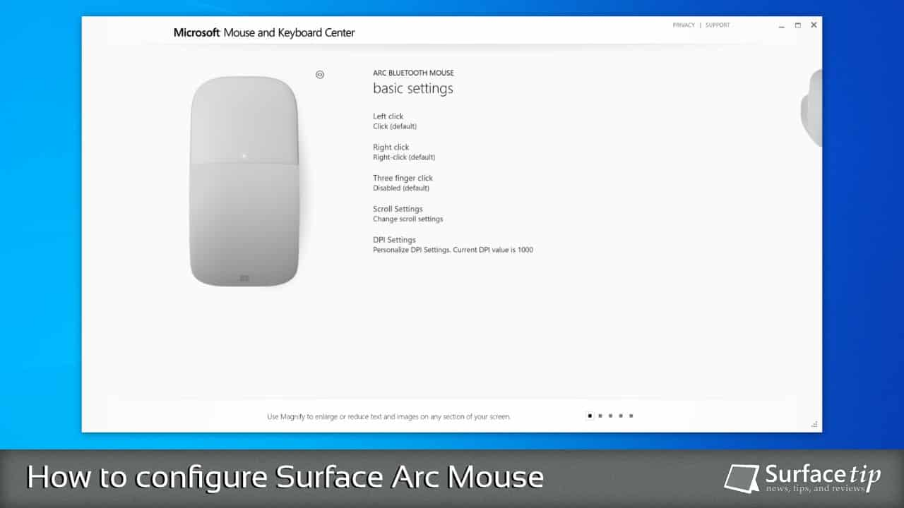 Configuring Surface Arc Mouse with Microsoft Mouse and