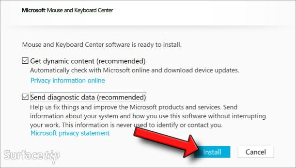 Download & Install Microsoft Mouse and Keyboard Center Step 05