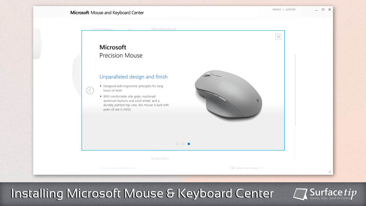 How to download and install the Microsoft Mouse and Keyboard Center