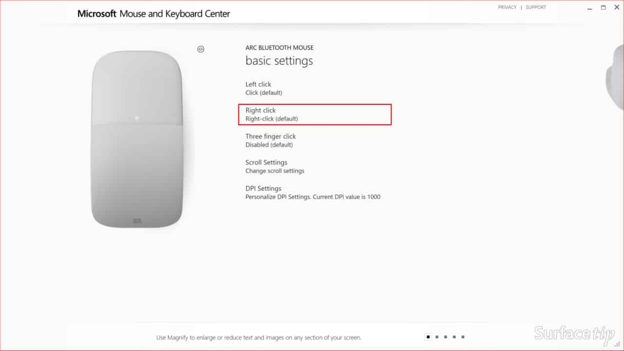 Configuring Surface Arc Mouse Step 02