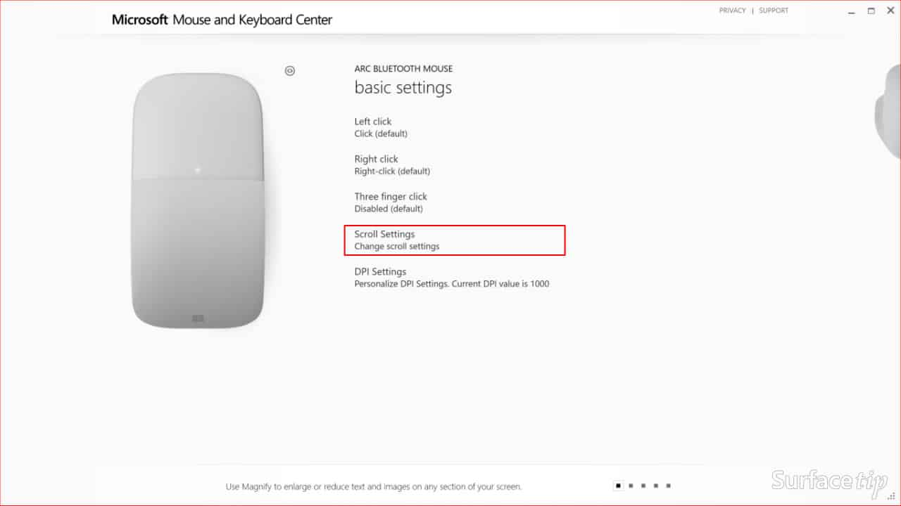 Configuring Surface Arc Mouse Step 04