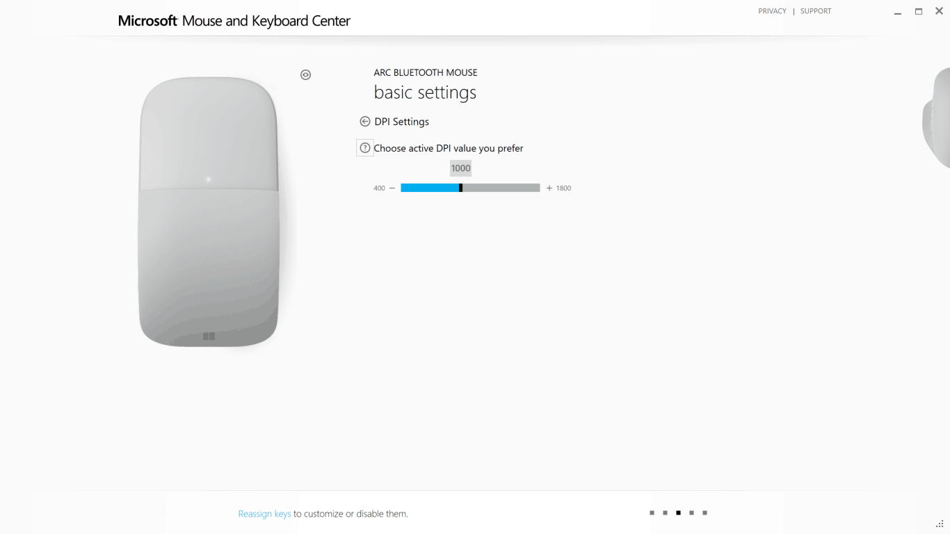Configuring Surface Arc Mouse Step 10