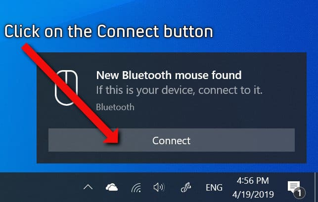 Accept the Bluetooth Swift Pair Request