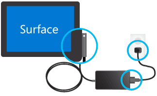 How to charge your Surface