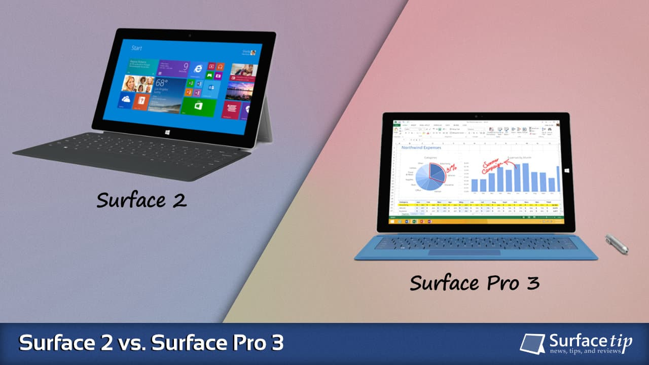 Surface 2 vs. Surface Pro 3