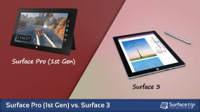 Surface Pro 1 vs. Surface 3