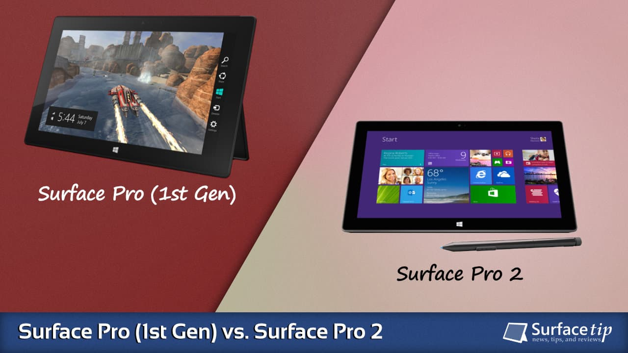 Surface Pro 1 vs. Surface Pro 2