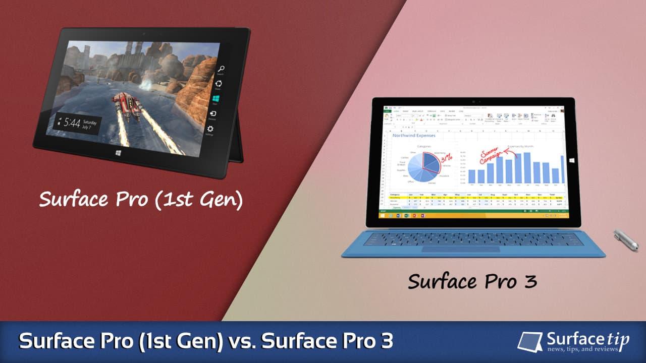 Surface Pro 1 vs. Surface Pro 3