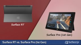 Surface RT vs. Surface Pro 1