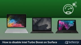 How to disable Intel Turbo Boost on Microsoft Surface