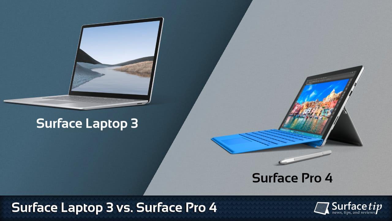 Surface Laptop 3 vs. Surface Pro 4