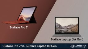 Surface Pro 7 vs. Surface Laptop 1
