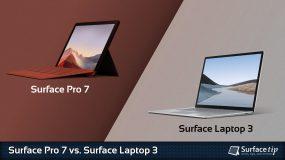Surface Pro 7 vs. Surface Laptop 3