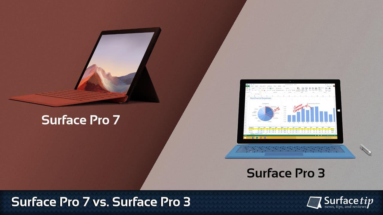 Surface Pro 7 vs. Surface Pro 3